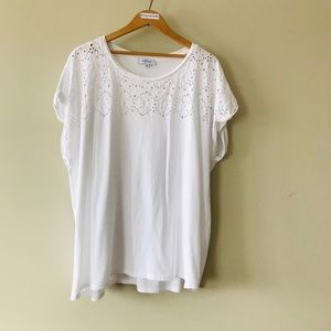 MyStyle white lace T
